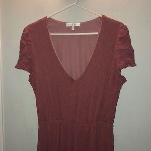 Wayf Dresses - WAYF Blousan pink midi dress XL